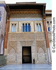 The Real Alcazar in Seville, Spain - Entrance to the Real...