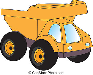 truck - vectors illustration shows the truck - toy