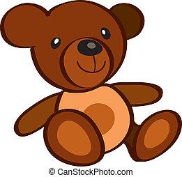 Teddy Bear - vectors illustration shows the brown teddy bear