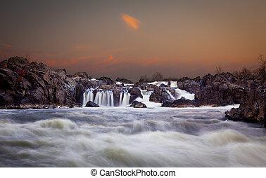 Great Falls at dusk