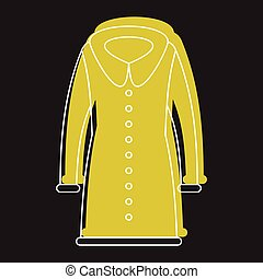 Coat fashion in doodle style icons vector illustration for design and web isolated