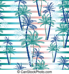 Beautiful exotic tropical summer pattern with palm trees