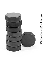 Hockey Puck - Washers to play hockey together in a high foot