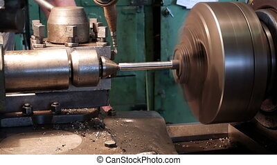 Machining a small part on an old lathe