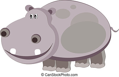 hippo - vectors illustration shows a gray hippopotamus