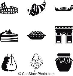 Moonshine icons set, simple style - Moonshine icons set....
