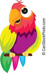 parrot - vectors represents a color illustration of a parrot...