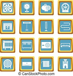 Heating cooling air icons azure - Heating cooling air icons...