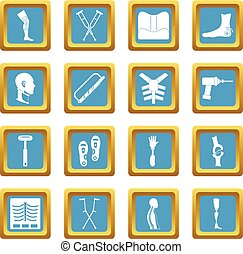 Orthopedics prosthetics icons azure - Orthopedics...