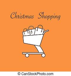 bags., shoppa vagnen, gåva