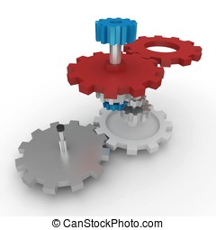 3d cogwheels mechanism
