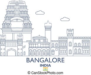 Bangalore City Skyline, India - Bangalore Linear City...