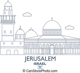 Jerusalem City Skyline, Israel - Jerusalem Linear City...