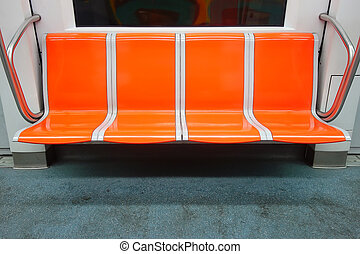 Vacant Seats in underground wagon