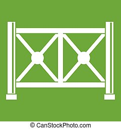 Metal fence icon green