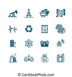 Energy icons || MICRO series - Energy, power and electricity...