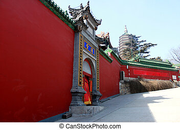Ancient architecture of the palaces complex in the Forbidden City, Beijing, China