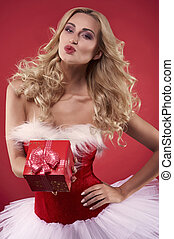 One kiss and a gift especially for you