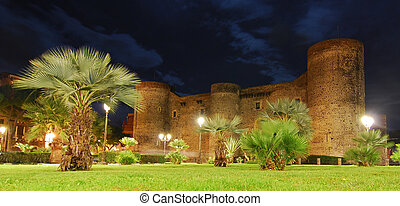 Ursino Castle in Catania, Sicily - The Ursino Castle with...