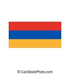 Armenia flag illustration - Armenia flag on the white...