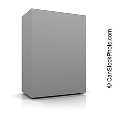 Blank Box - 3d render of Blank Box on a white background.