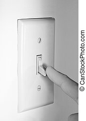 Conserving Power - Finger shutting off Light Switch to...