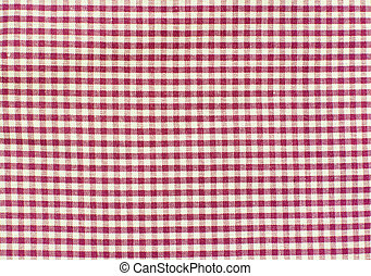 White and red checkered fabric