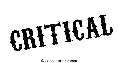 Critical rubber stamp. Grunge design with dust scratches....