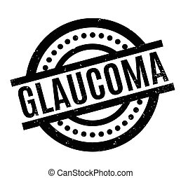 Glaucoma rubber stamp. Grunge design with dust scratches....