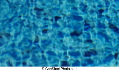 Water ripples on blue colored mosaic tiles - Abstract water...