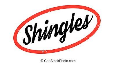 Shingles rubber stamp