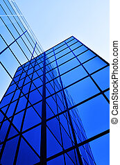 Business Building Glass Windows Geometry Architecture -...