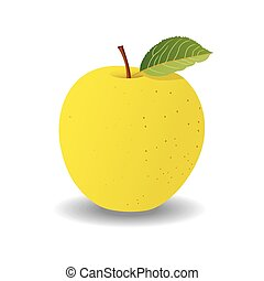 green apple on a white background. vector