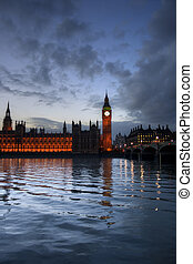 Houses of Parliament and Big Ben - A view of Big Ben and the...