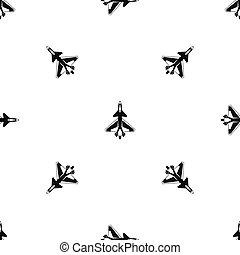 Military fighter jet pattern seamless black - Military...