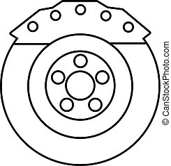 Brake shoe icon, outline style - Brake shoe icon. Outline...