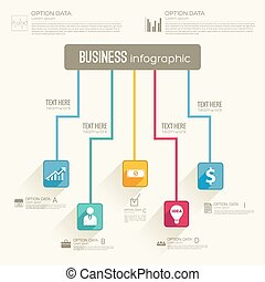 Business Abstract Flowchart Concept