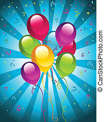 Party balloons - Vector illustration of party balloons.