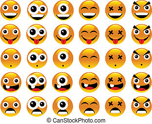 Funny smileys - Vector collection of smileys