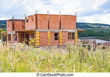 房子, 新, 建設, 在下面