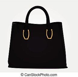 Black women bag vector