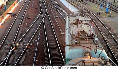 freight train, view from above