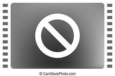 Forbidden sign isolated