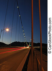 Lions Gate Bridge at night Vancouver BC, Canada