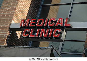 Medical Clinic Building - Sign for a medical clinic