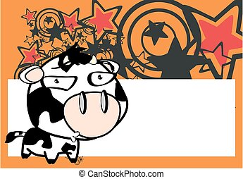 funny little big head cow expression background8 - funny...