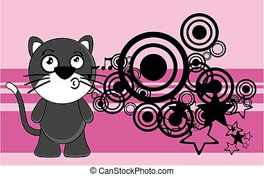 funny little chubby cat cartoon expression background7