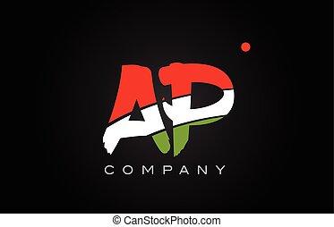 AP A P alphabet letter logo combination icon alphabet design...