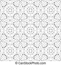 Vector Seamless Pattern from Caligraphic Lines. Can be used...