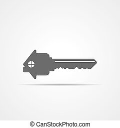 Estate concept with house and key. Vector illustration